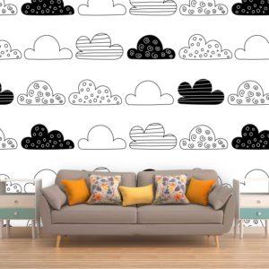 סטיק שופ - טפט תבנית עננים