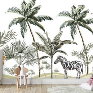 טפטים לחדרי ילדים - גן חיות