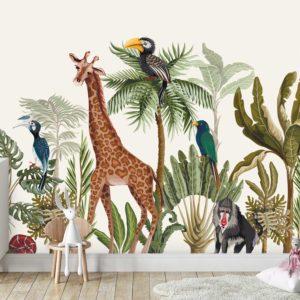 טפטים לחדרי ילדים - גן חיות 2