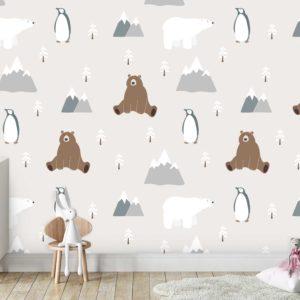 טפטים לחדרי ילדים - קוטב צפוני