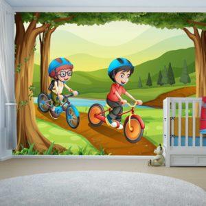 טפטים לחדרי ילדים - טיול בפארק