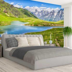 סטיק שופ - טפט טבע אגם בהרים