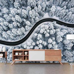 סטיק שופ - טפט טבע כביש בשלג