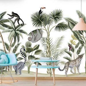 טפטים לחדרי ילדים - ג'ונגל חיות 3