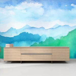 סטיק שופ - טפט טבע הרים בצבע