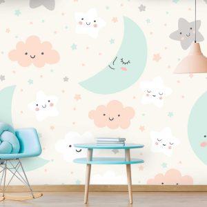 טפט לקיר חדרי ילדים ונוער - 5589