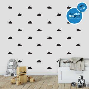 סטיקשופ - מדבקות קיר - טפט ברגע - עננים 1