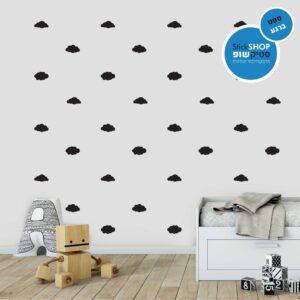 סטיקשופ - מדבקות קיר - טפט ברגע - עננים 3