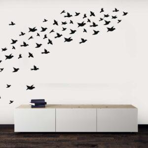 סטיקשופ -מדבקות קיר - טפט ברגע - נדידת ציפורים