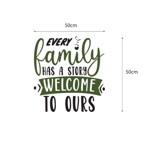 סטיקשופ - מדבקות משפטים לקיר - Family story