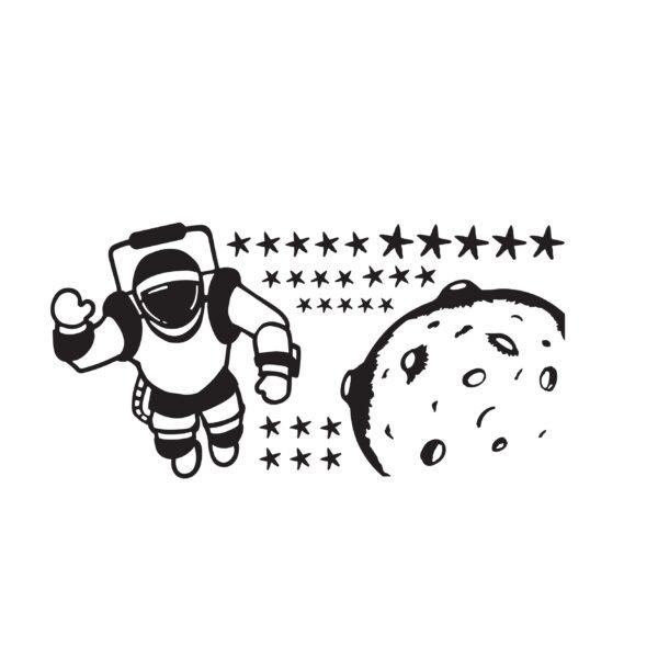 סטיקשופ - מדבקות קיר - לחדרי ילדים - אסטרונאוט