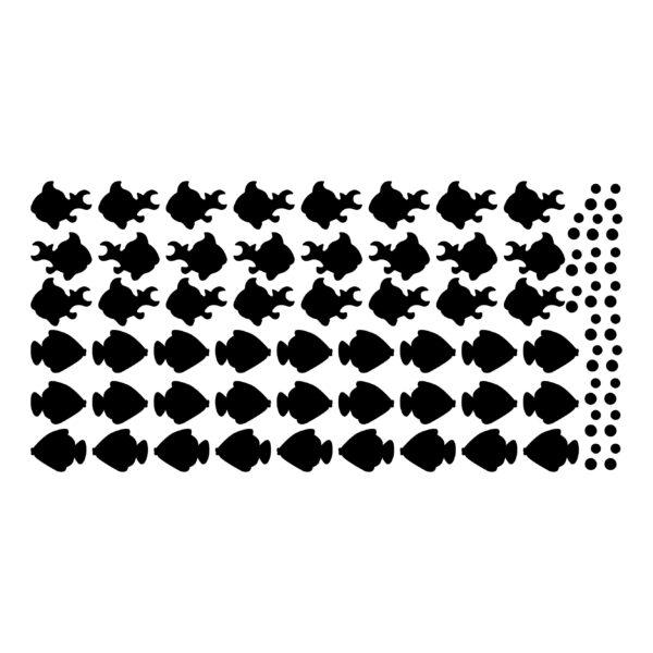 סטיקשופ - מדבקות קיר - טפט ברגע - דגים
