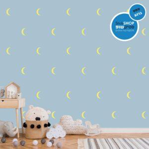 סטיקשופ - מדבקות קיר - טפט ברגע - ירח