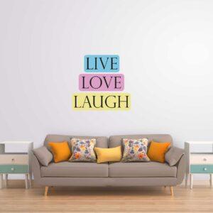 סטיקשופ - מדבקות קיר - LIVE LOVE LAUGH