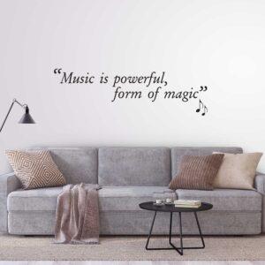 סטיקשופ - מדבקות קיר - Music is powerful