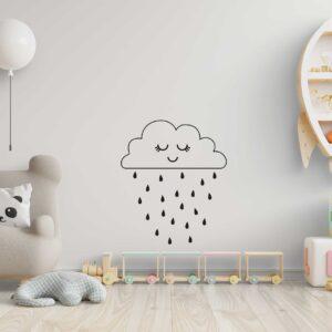 סטיקשופ - מדבקות קיר - ענן גשום