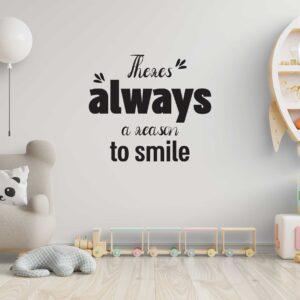 סטיקשופ - מדבקות קיר - Reason to smile