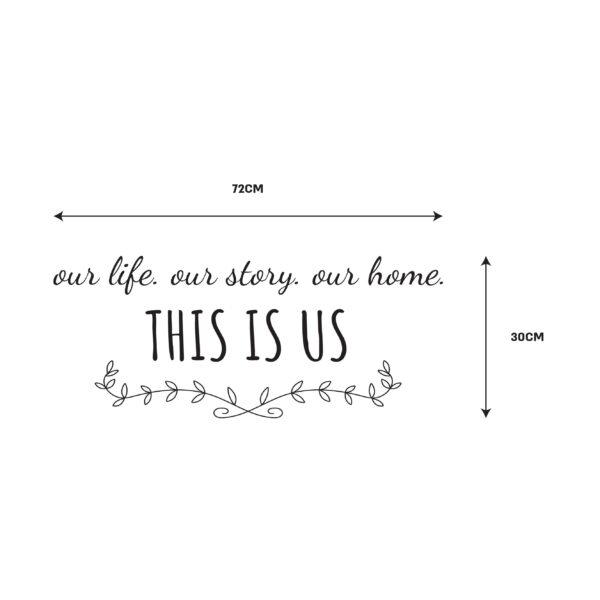 סטיקשופ - מדבקות קיר - This is us