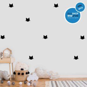 סטיקשופ - מדבקות קיר - טפט ברגע - חתלתול