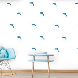 סטיקשופ - מדבקות קיר - טפט ברגע - דולפינים 2