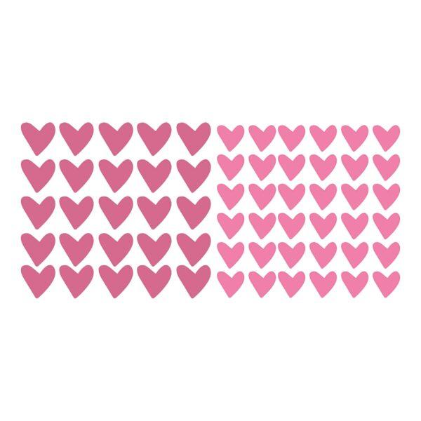 סטיקשופ - מדבקות קיר - טפט ברגע - לבבות ורודים