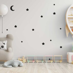 סטיקשופ - מדבקות קיר - טפט ברגע - ירח וכוכבים