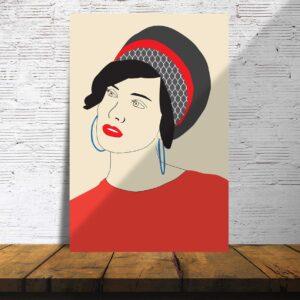 פוסטרים - אישה עם מטפחת 2
