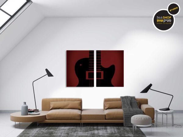 פוסטרים - גיטרה אומנותית 1