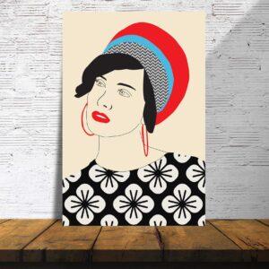 פוסטרים - אישה עם מטפחת 1
