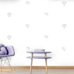 מדבקות קיר - טפט ברגע - יהלום