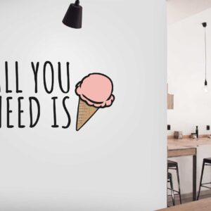 מדבקות קיר - All you need is Ice cream