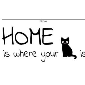 מדבקות קיר - 3 Home is