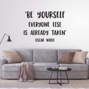 מדבקות קיר - Be yourself