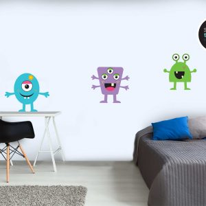 מדבקות קיר - מפלצות חמודות