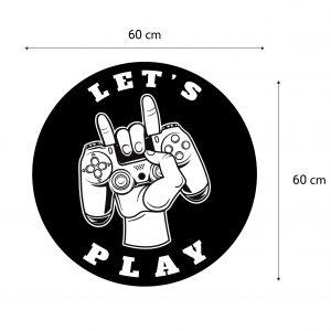מדבקות קיר - Let's play