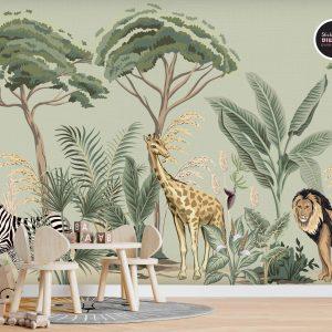 טפטים לחדרי ילדים - ג'ונגל חיות 5