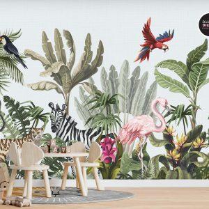 טפטים לחדרי ילדים - ג'ונגל חיות 4