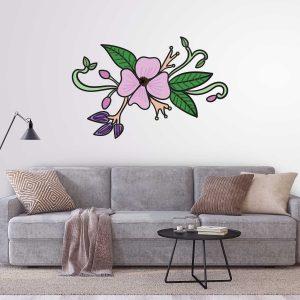 מדבקות קיר - פרח דמיוני