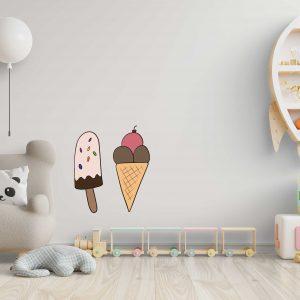מדבקות קיר - גלידה
