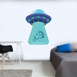 מדבקות קיר - Alien pizza