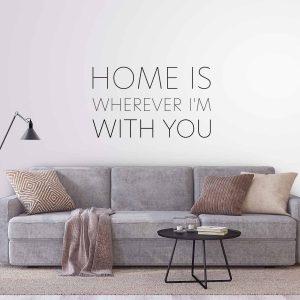 מדבקות משפטים קיר - Home is 5