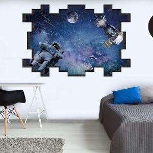 מדבקות קיר - Space 3D